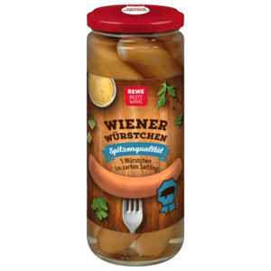 REWE Beste Wahl Wiener Würstchen 250g, 5 Stück