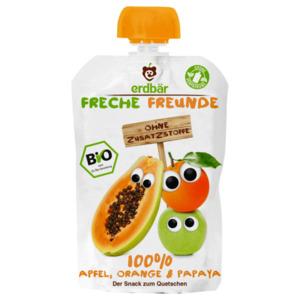 Erdbär Freche Freunde 100% Apfel, Orange und Papaya 100g