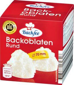 Backoblaten 70 mm Ø Backfee Tray à 15 Pack.