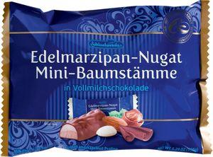 Mini Nougat Baumstämme Sorte: Mandel-Nougat in Vollmilchschokolade