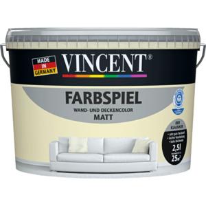 "VINCENT                 Wand- & Deckencolor ""Farbspiel"", Biskuit, matt, 2,5 L"