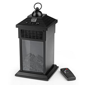 EASYmaxx Laterne Flammeneffekt & Wärme 400W schwarz