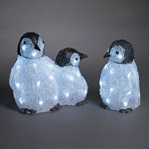 Konstsmide LED Acryl Pinguinfamilie 2-er Set mit 48 Leuchtdioden