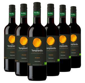 Bio Tempranillo Vino de la Tierra de Castilla - 6 x 0,75 Liter