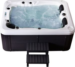 Home Deluxe Outdoor-Whirlpool Beach inkl. Treppe und Thermoabdeckung