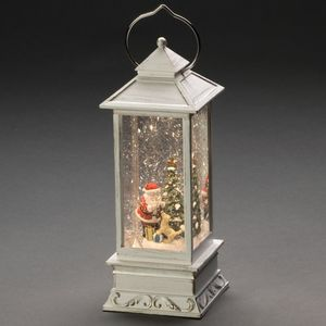 """Konstsmide LED Wasserlaterne mit Schneefall-Effekt, """"Weihnachtsmann"""""""
