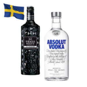 Absolut Vodka oder Three Sixty Black Vodka 42