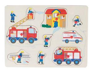 Besttoy - Holz-Puzzle - Feuerwehr - 9 Teile