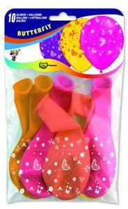 10 Luftballons Schmetterling, D=33cm
