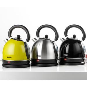 Powertec Kitchen Retro-Edelstahl-Wasserkocher