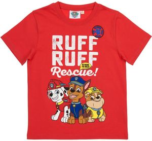 Kinder T-Shirt,  Paw Patrol rot Gr. 122/128