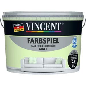 """VINCENT                 Wand- & Deckencolor """"Farbspiel"""", Kerbel, matt, 2,5 L"""