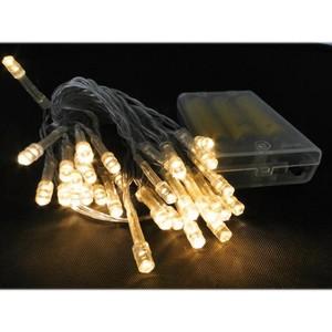 50er LED-Lichterkette warmweiß batteriebetrieben für Innen
