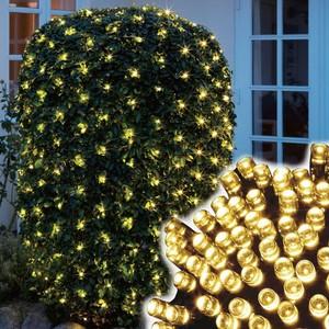 180er LED-Lichternetz 1,8 x 1,2 m warmweiß mit 8 Funktionen für Außen & Innen