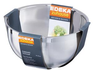 EDEKA zuhause Schüssel aus Edelstahl Ø 24 cm, 12,5 cm hoch 1 Stk