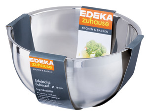 EDEKA zuhause Schüssel aus Edelstahl Ø 16 cm, 8,5 cm hoch 1 Stk