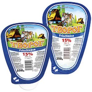 """Frischkäse """"Tworog Domaschnij"""" (dreieckig) 15% Fett i.Tr."""