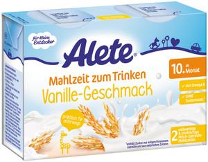 Alete Mahlzeit zum Trinken Vanille ab dem 10. Monat 2x 200 ml