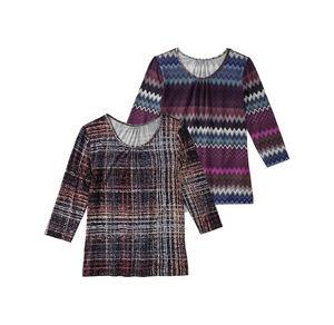Laura Torelli Classic Damen-Shirt mit schichen Fältchen