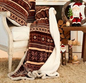 Home Flanell-Fleece-Decke in festlichem Design, ca. 130x170cm