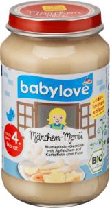 babylove Babymenü Blumenkohl-Gemüse mit Äpfelchen auf Kartoffeln und Pute nach dem 4. Monat