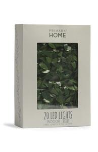Lichterkette mit 20 LEDs und Blättern