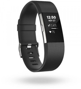 Fitbit Charge 2 (S) Smartwatch ,  schwarz/silber