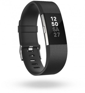 Fitbit Charge 2 (L) Smartwatch ,  schwatr/silber
