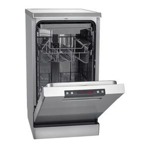 Bomann GSP 849 Silber Stand-Geschirrspüler, unterbaufähig, 45cm, A++, 10 Maßgedecke
