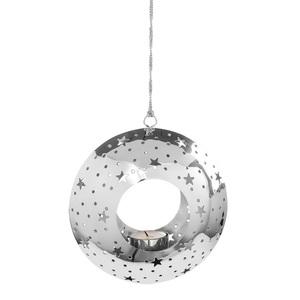 FINK Teelichthalter zum Hängen Ø 17 LOOM STARS Edelstahl