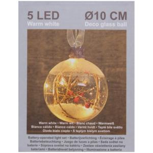 Gläserne Weihnachtskugel mit LED-Licht