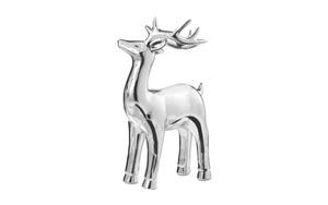 Deko-Hirsch aus Dolomite in silber, 26 cm