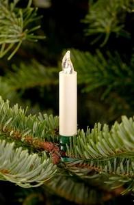 Lumix Weihnachtsbaumkerzen Classic mini ,  6 Kerzen, Erweiterung, elfenbein