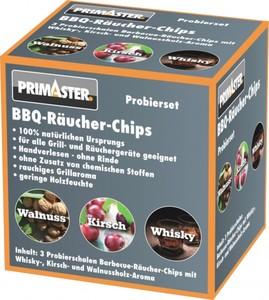 Primaster Räucher-Schale 3er Set ,  Kirsche, Walnuss, Whisky