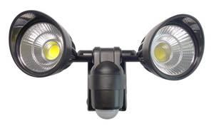 Batteriebetriebener LED Doppelstrahler mit Bewegungsmelder Müller Licht