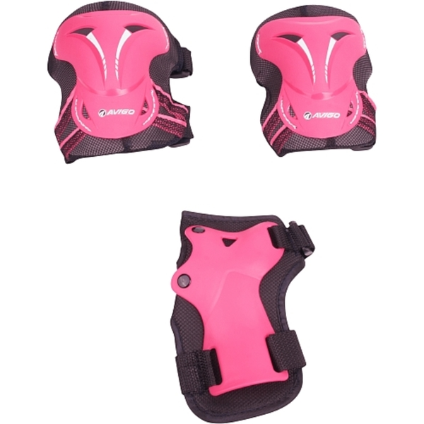 Hudora - Protektoren-Set, Gr. M, pink
