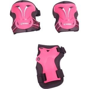 Hudora - Protektoren-Set, Gr. S, pink
