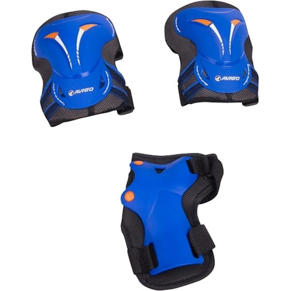 Hudora - Protektoren-Set, Gr. S, blau