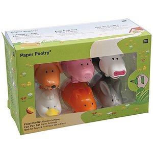 Paper Poetry Stifteset Bauernhoftiere 6 Stück