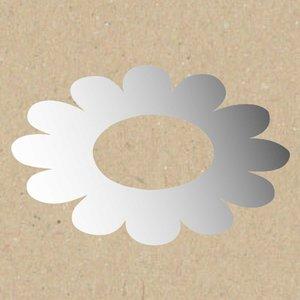Rico Design Spiegel Blume mittelgroßes Loch 5,5x8,5cm