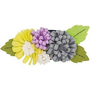 Rico Design Bastelpackung Blütenbouquets flieder-hellgrün groß