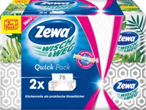Zewa Küchentücher Wisch&Weg Quick Pack 2x75Bl