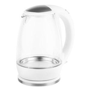 TEC STAR Glas-Wasserkocher MD 18096 mit 2200 Watt Leistung, 1,7 Liter Fassungsvermögen, 360° Basisstation, Sicherheitsfunktionen