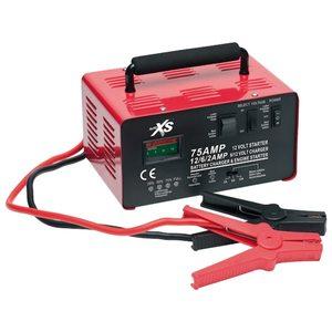 AUTO XS MD 11932 Auto Batterieladegerät mit Starthilfefunktion, Ladezustandsanzeige, Überhitzungsschutz, LC-Display