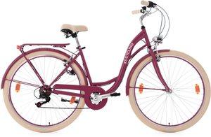 KS Cycling Damen-Cityrad, 28 Zoll, Shimano Tourney 6 Gang-Kettenschaltung, rot, »Balloon«