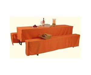 GO-DE Husse für Festzeltgarnitur ,  für 70er Tische, orange