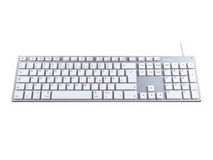 Networx Aluminium USB-Tastatur, mit Ziffernblock, silber