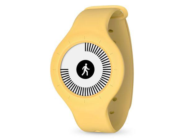 Withings/Nokia Go, Aktivitätstracker, mit Armband und Clip, gelb