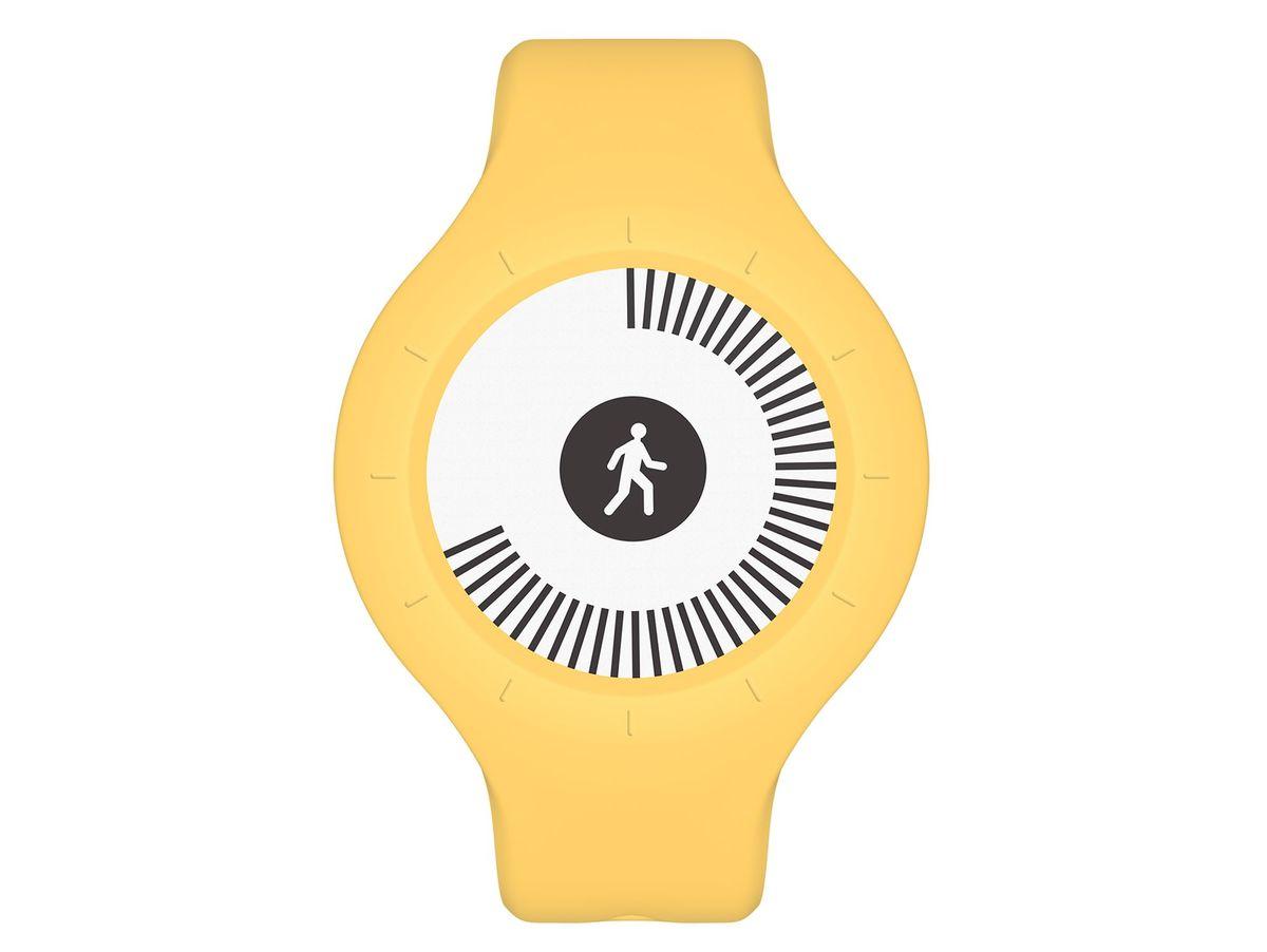 Bild 2 von Withings/Nokia Go, Aktivitätstracker, mit Armband und Clip, gelb