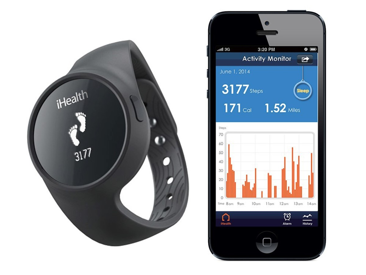 Bild 1 von iHealth Activity & Sleep Tracker, für iPad/iPod/iPhone, Bluetooth, schwarz/blau